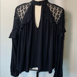 Free people lace blouse for the holidays